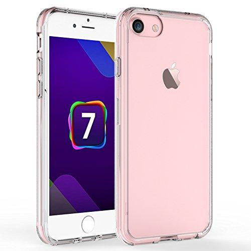 iPhone 7 ケース, 【IVSO】Apple iPhone 7上質透明カバー 超薄型 最軽量 背面カバー PC+TPUのシリーズ- iPhone 7 専用ケース(クリア)