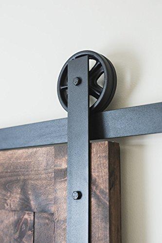 NW Artisan Hardware 6ft Black Vintage Style Sliding Wooden Barn Door Hardware Rustic (Vintage Barn Door Hardware compare prices)