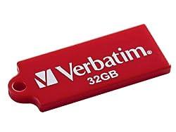 Verbatim TUFF 'N' TINY 32 GB USB 2.0 Flash Drive 97465 (Red)