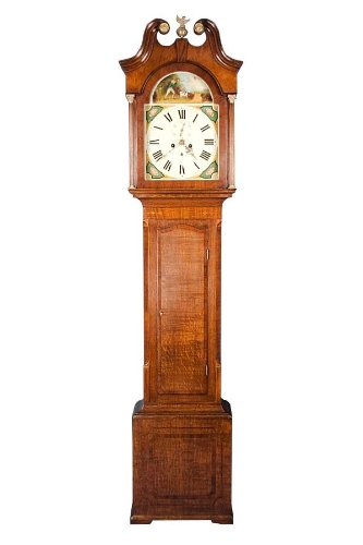Antique Victorian Oak Grandfather Clock