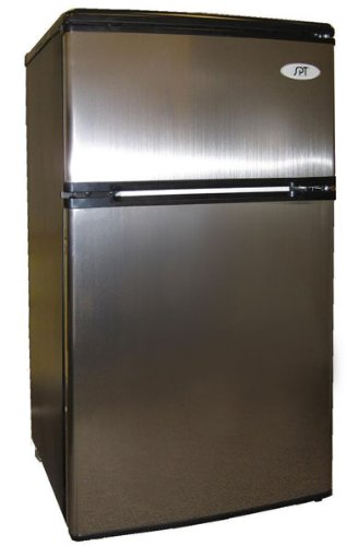 Find Discount SPT Energy Star 3.2 cu.ft. Double Door Refrigerator in Stainless Steel