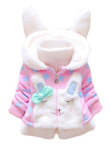 Tkria bambino infantile delle ragazze invernali felpe cappotto giubbotti capispalla