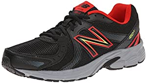 New Balance Men's M450V4 Running Shoe, Black/Red, 10.5 D US