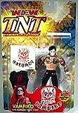 WCW TNT RARE Vampiro Action Figure NIB with Temporary Tattoo and Fabric Shirt