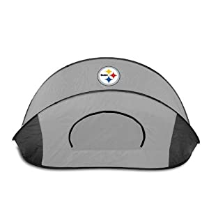 Pittsburgh Steelers Picnic Time NFL Manta Sun Shelter (Black/Gray) from Picnic Time