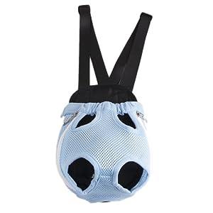 Blue Pet Dog Carrier Backpack Net Nylon S-size