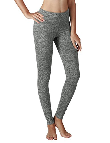 Yoga Reflex Women's Active Yoga Running Pants Workout Leggings - Hidden Pocket , Grayheather , Medium