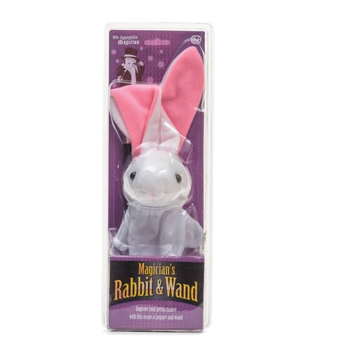 Mago títere conejo mano y varilla de plástico clásica Juguetes poder mágico