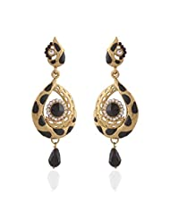 I Jewels Tradtional Gold Plated Elegantly Handcrafted Pair Of Fashion Earrings For Women. - B00N7IPFNO
