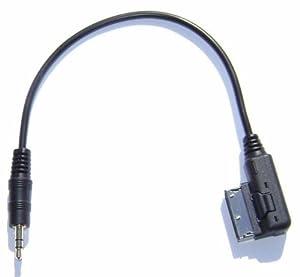 MDI AMI MMI Cable Adapter Connect Ipod Iphone Mini 3.5mm to Audi A4 A5 S5 A6 A8 Q7 / Vw Jetta GTI GLI Jetta Passat Cc Tiguan Touareg EOS