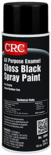 CRC All Purpose Enamel Spray Paint, 10 oz Aerosol Can, Gloss Black