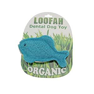 Pet supplies pet chew toys all natural loofah dental for Blue fish dental