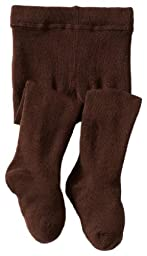 Jefferies Socks Baby Girls\' Seamless Organic Cotton Tights, Chocolate, 18 24 Months