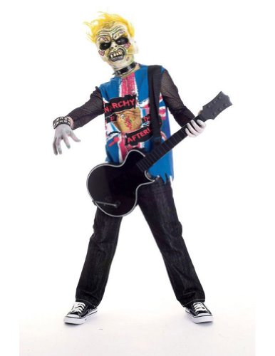 Kids-Costume Zombie Icons Punk Rawk 7-8 Halloween Costume - Child 7-8
