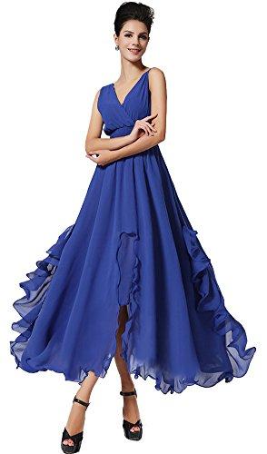 CozyRoom Women's Summer Wrap Tube Dress Ruched Split Chiffon Maxi Dress