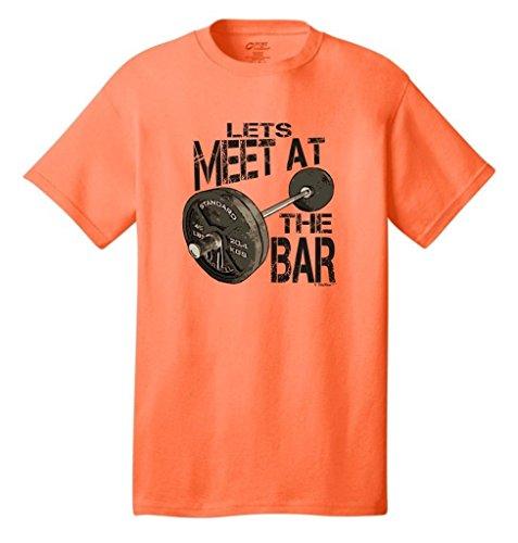 Let'S Meet At The Bar Neon T-Shirt Large Neon Orange