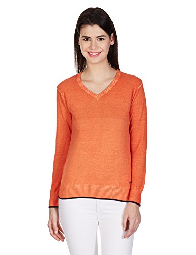Pepe Women's Cotton Sweater (PIX LS_Orange_M)