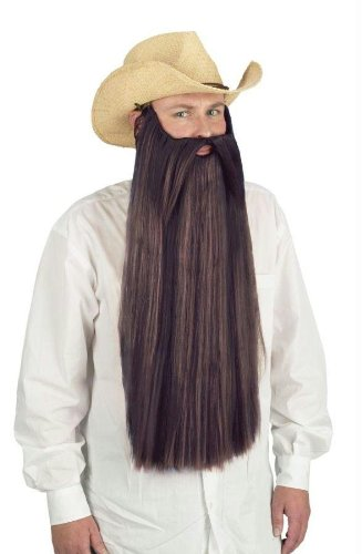 [Costumes For All Occasions Fw90026Bn Beard W Mustache Brown] (Brown Mustache And Beard Costume)