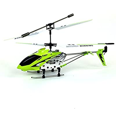 Syma 3 Channel S107/S107G Mini Indoor Co-Axial R/C Helicopter w/ Gyro (Green Color) from Syma
