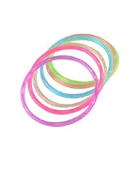 6 Pcs Clorful Plastic Wrist Ornament Bangle Bracelet for Lady