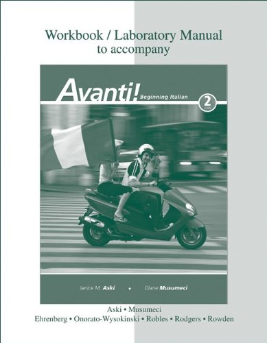 Workbook / Laboratory Manual to Accompany Avanti!...