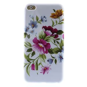 """Apple iPhone 6 Plus - 5.5"""" inch - Glossy Flexible TPU Gel Carring Case, Snap-On Cover - Fresh Flowers Pattern"""