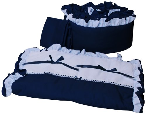 Navy And White Baby Bedding 1694 front