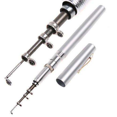 Andoer mini aluminum pocket pen fishing rod pole reel for Pen fishing rod amazon