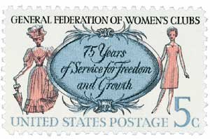 #1316 - 1966 5c Gen. Federation of Womens Clubs Postage Stamp Numbered Plate Block (4)
