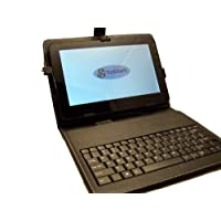 Viewsonic G-tablet Case and USB Keyboard with Kick Stand - Custom Built By GSAstore to Fit G-tablet Without Covering Any Ports.