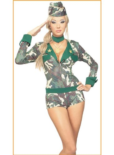 Adult Camo Army Camouflage Dress Costume Marine Womens