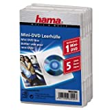 Hama Mini DVD Jewel Case, 5 pcs./pack, transparent