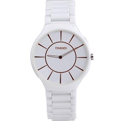 Time100 Orologio donna-uomo-unisex ceramica nero, ultra sotile, stile minimalista(taglia M) #W50173M.02A