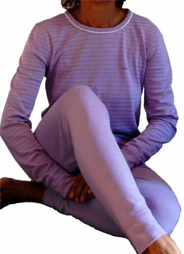 Lavender Women's Thermals Underwear Top and Bottom Set