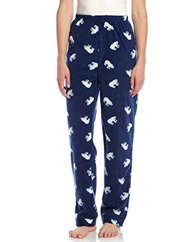 Women Fleece Sleep Pants Polar Bear Medium