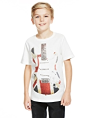 Pure Cotton Guitar Flag T-Shirt
