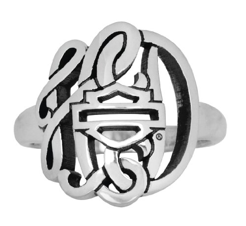 Harley-Davidson Womens .925 Silver Monogram Ring by Mod Jewelry (7)