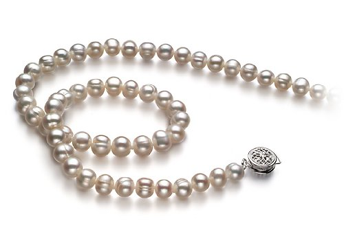 Bliss White 6-7mm A Freshwater Pearl Necklace 18 inch Princess Length