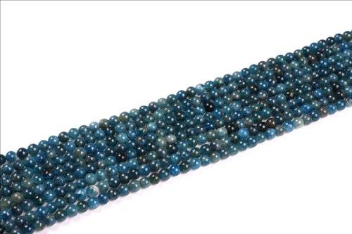 Sweet & Happy Girl'S Store 4Mm Round Blue Kyanite Gemstone Beads Strand 15