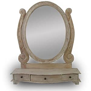 Dressing Table Mirror Mirror Natural Limed