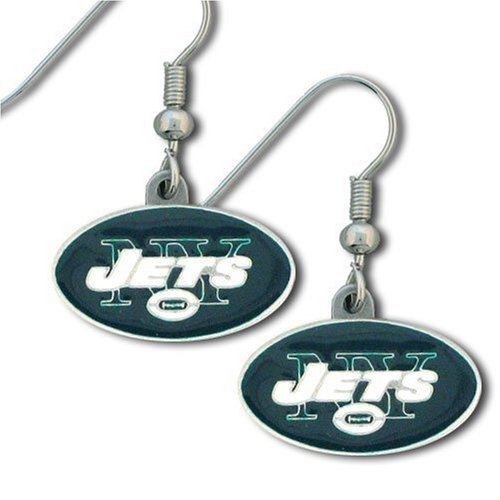 NFL New York Jets Dangle Earrings