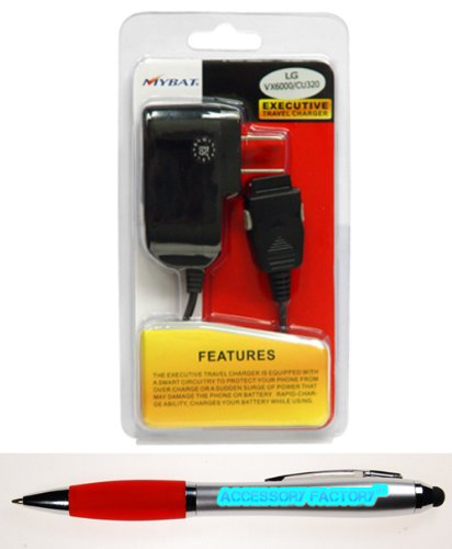 Accessory Factory(Tm) Bundle (The Item, 2In1 Stylus Point Pen) Chargers Travel Premium Charger (With Ic Chips)