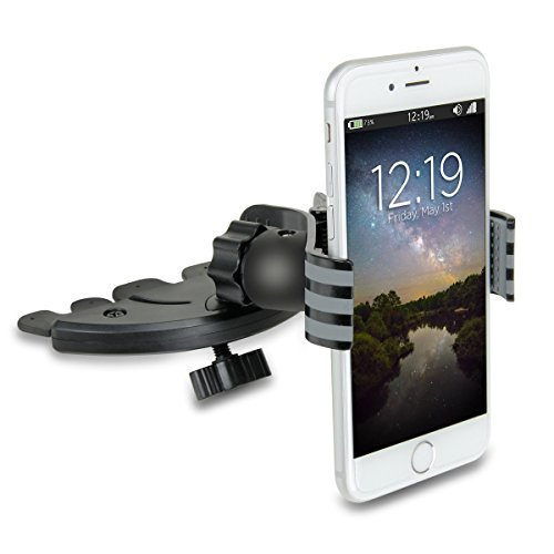 USA Gear Easy Installation CD Slot Phone Car Mount Holder with Secure Cradle-less Clip (up to 4