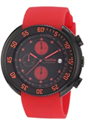 red line Men's 50038-BB-01-RD Driver Chronograph Black Dial Red Silicone Watch