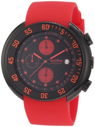 Red Line Driver 50038-BB-01-RD 50 Stainless Steel Case Red Band Mineral Men's Quartz Watch
