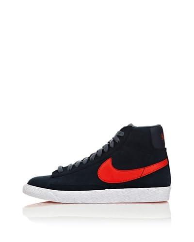 Nike Sneaker Blazer Mid Vintage (Gs) [Blu Avio/Arancione]