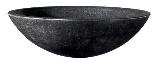 Decolav 1620-G-BLK Round Granite Stone Vessel, Pearl