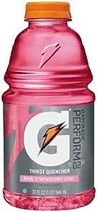 Gatorade Sports Drink, Strawberry Kiwi Rain, 32-Ounce Bottles (Pack of 12)
