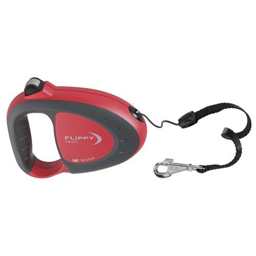 Ferplast 75020022 Flippy Tech, Guinzaglio automatico, colore: Rosso