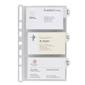 Amazoncom franklincovey insertables categorized for Franklin covey business card holder
